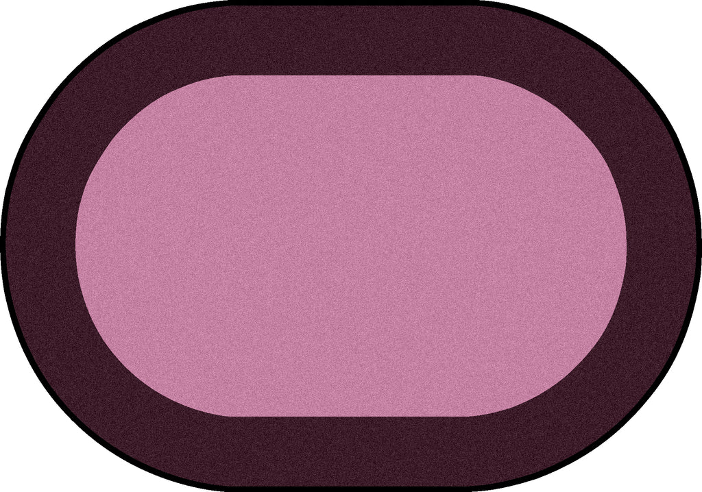 "All Around™ Purple Classroom Carpet, 5'4"" x 7'8"" Oval"