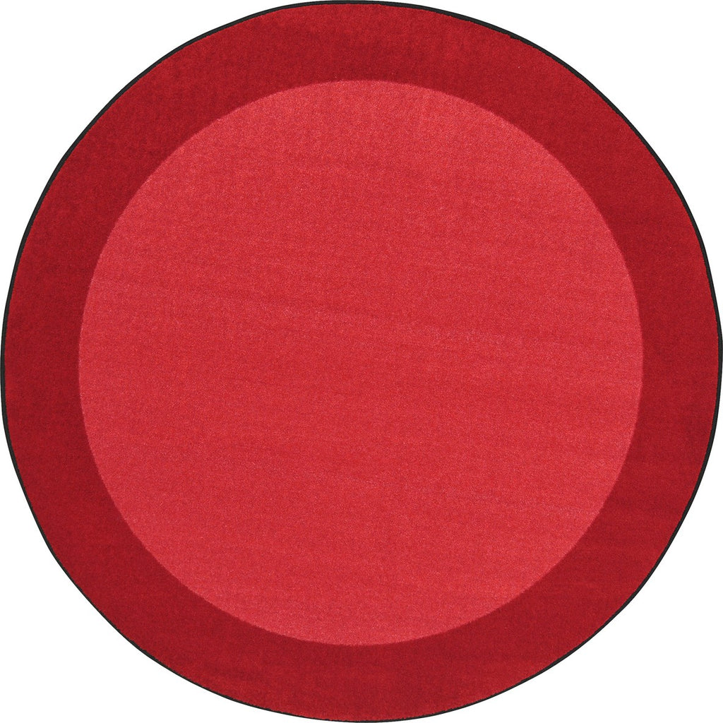 "All Around™ Red Classroom Carpet, 7'7"" Round"
