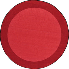 "All Around™ Red Classroom Carpet, 5'4"" Round"