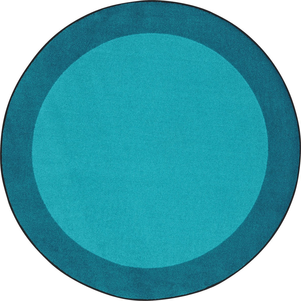 "All Around™ Teal Classroom Carpet, 7'7"" Round"