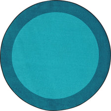 "All Around™ Teal Classroom Carpet, 5'4"" Round"
