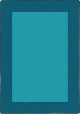 "All Around™ Teal Classroom Carpet, 5'4"" x 7'8"" Rectangle"