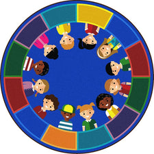 "All of Us Together™ Classroom Circle Time & Seating Rug, 7'7"" Round"
