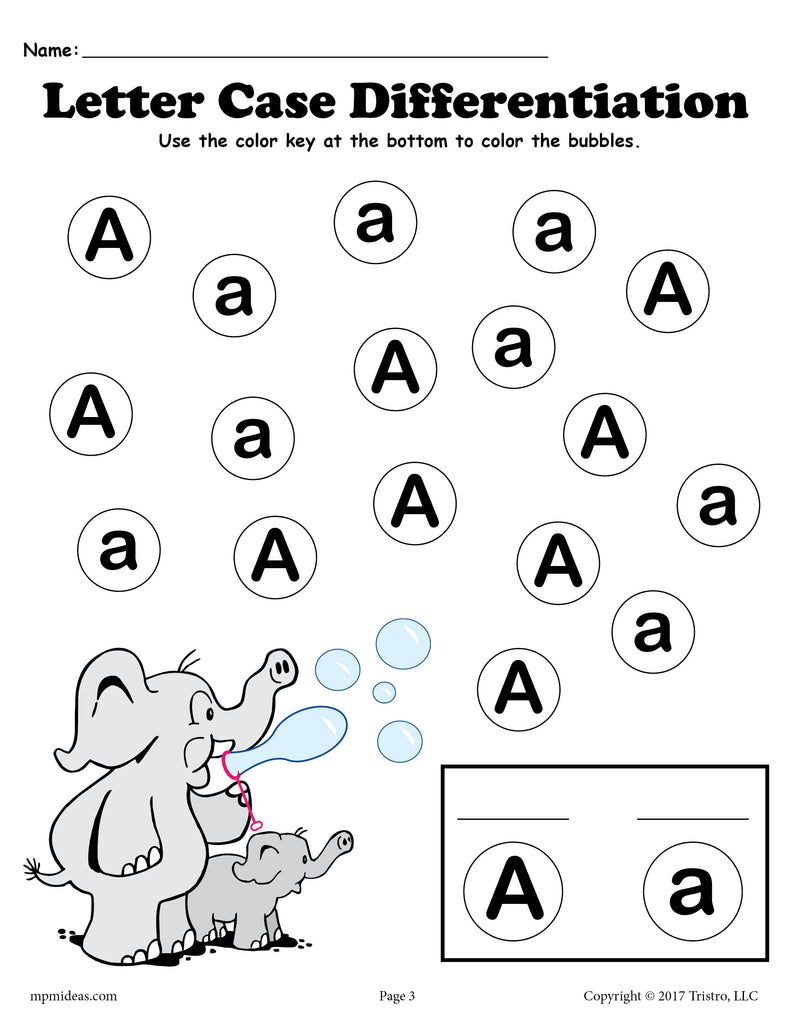 FREE Letter A Do-A-Dot Printables For Letter Case