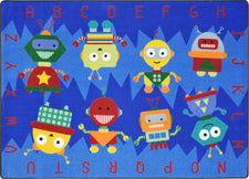 "Alphabet Bots© Classroom Rug, 5'4"" x 7'8"" Rectangle"