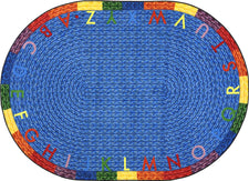 "Alphabet Braid© Classroom Rug, 5'4"" x 7'8""  Oval"