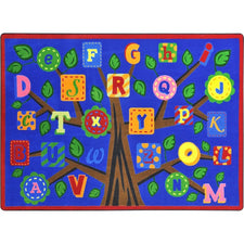 "Alphabet Leaves™ Bold Classroom Circle Time Rug, 5'4"" x 7'8"" Rectangle"