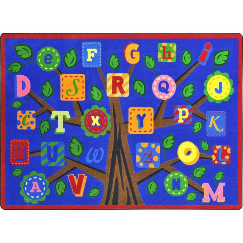 Joy Carpets Alphabet Leaves™ Bold Classroom Circle Time
