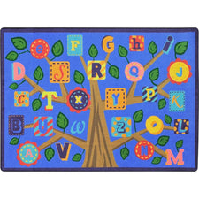 "Alphabet Leaves™ Soft Classroom Circle Time Rug, 5'4"" x 7'8"" Rectangle"