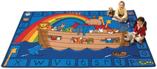 Alphabet Noah KID$ Value PLUS Discount Circle Time Rug, 8' x 12' Rectangle