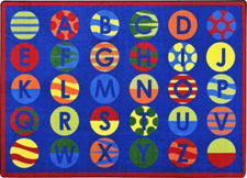 "Alphabet Patterns™ Classroom Circle Time Rug, 7'8"" x 10'9"" Rectangle"