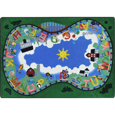 "Alphabet Railway™ Classroom Seating Rug, 5'4"" x 7'8"" Rectangle"