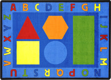 "Alphabet Shapes© Classroom Rug, 5'4"" x 7'8"" Rectangle"