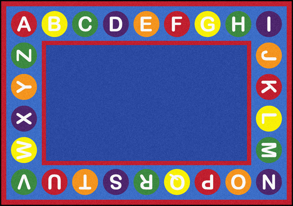 "Alphabet Spots© Primary Classroom Rug, 5'4"" x 7'8"" Rectangle"