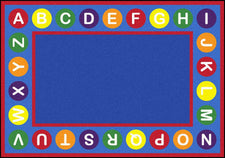 "Alphabet Spots© Primary Classroom Circle Time Rug, 7'8"" x 10'9"" Rectangle"