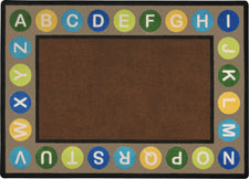 "Alphabet Spots© Earthtone Classroom Circle Time Rug, 7'8"" x 10'9"" Rectangle"