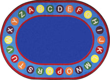 "Alphabet Spots© Primary Classroom Circle Time Rug, 7'8"" x 10'9"" Oval"