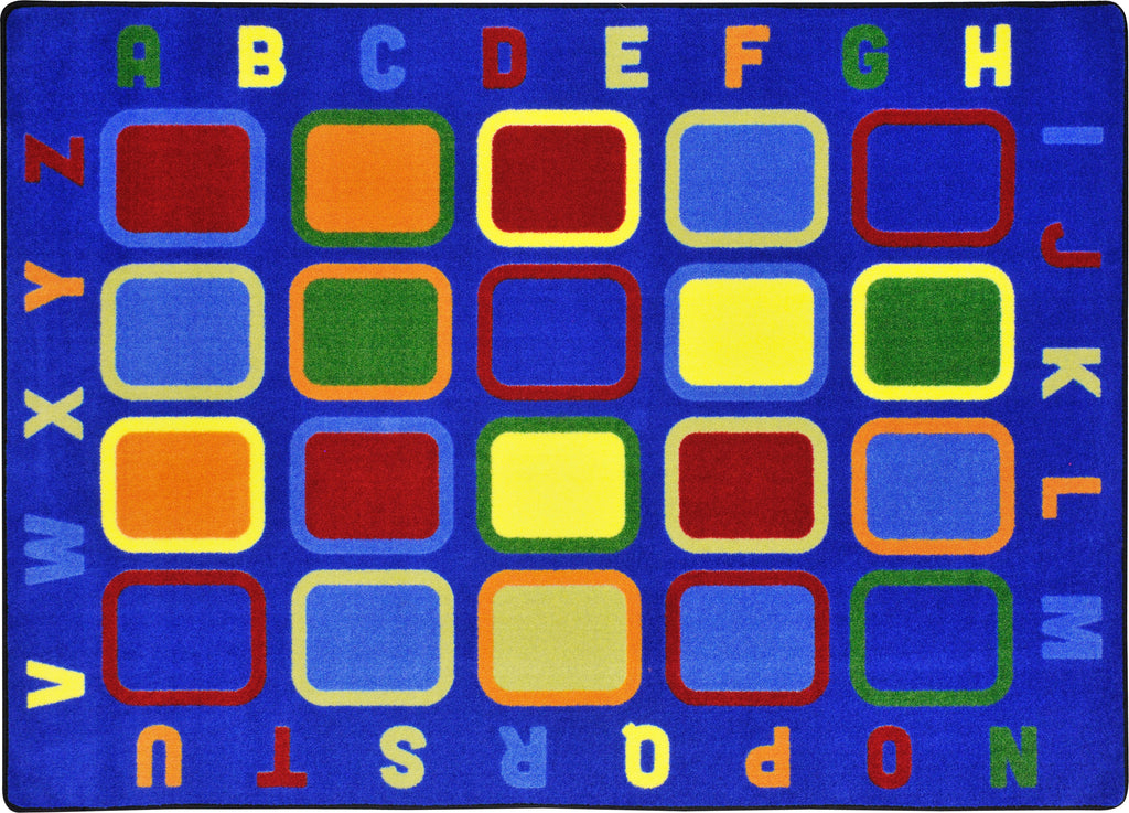"Alphabet Tiles© Classroom Circle Time Rug, 7'8"" x 10'9"" Rectangle"