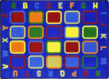 "Alphabet Tiles© Classroom Rug, 5'4"" x 7'8"" Rectangle"