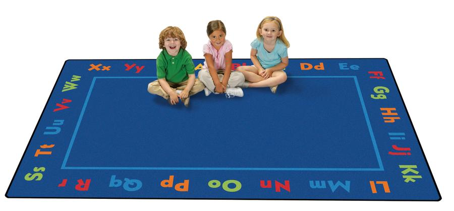 Alphabet KID$ Value PLUS Discount Classroom Rug, 8' x 12' Rectangle