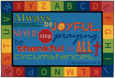 Always Be Joyful KID$ Value PLUS Discount Circle Time Rug, 6' x 9' Rectangle