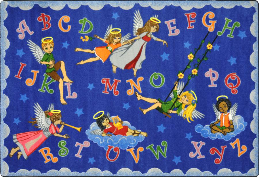 "Angel Alphabet© Classroom Rug, 5'4"" x 7'8""  Oval"