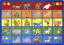 "Animal Phonics© Primary Classroom Rug, 5'4"" x 7'8"" Rectangle"