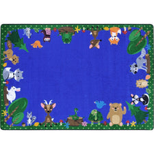 "Animals Among Us™ Classroom Seating Rug, 5'4"" x 7'8"" Rectangle"