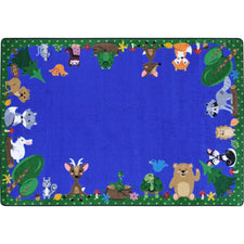 "Animals Among Us™ Classroom Seating Rug, 7'8"" x 10'9"" Rectangle"