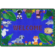 "Animals Among Us™ Classroom Mat, 2'8"" x 3'10"" Rectangle"