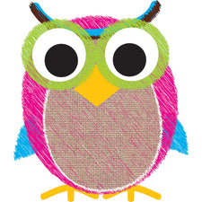 Ashley Productions Burlap Scribble Owl Magnetic Whiteboard Eraser
