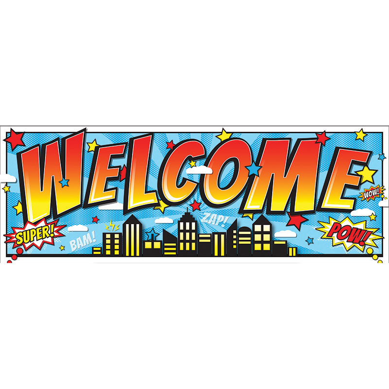 Magnetic Superhero Welcome Banner