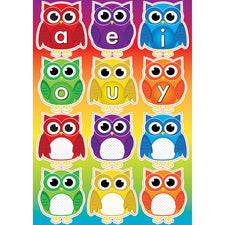 Owls with Vowels Mini Magnetic Set