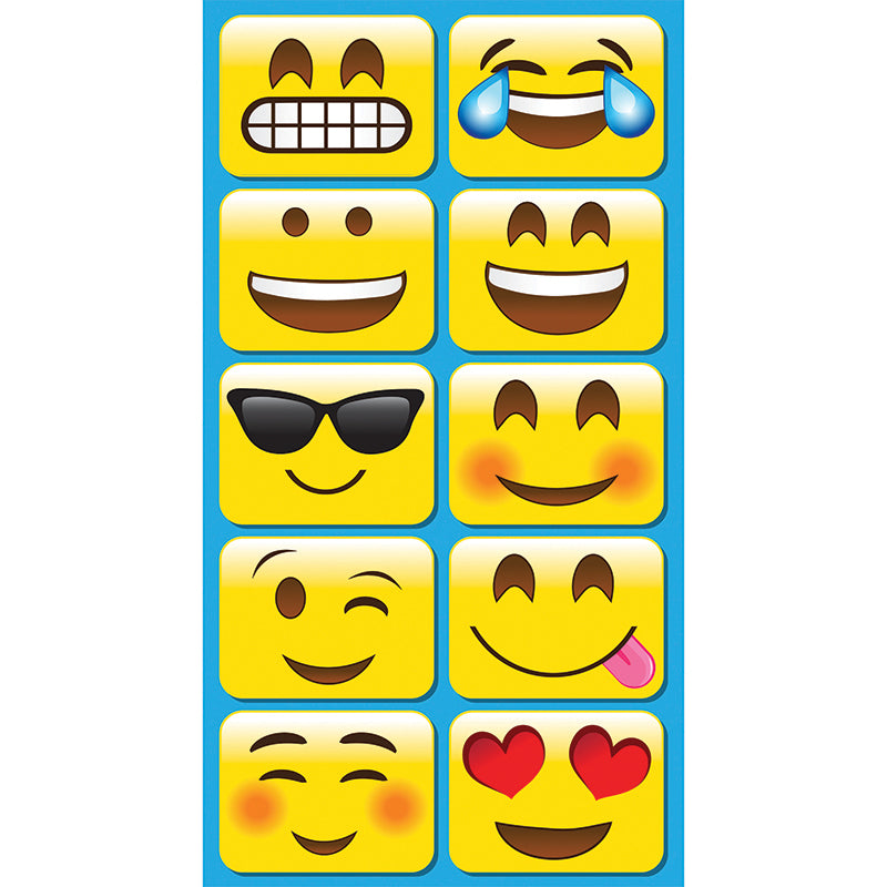 Emojis Mini Whiteboard Erasers, 10 Pack