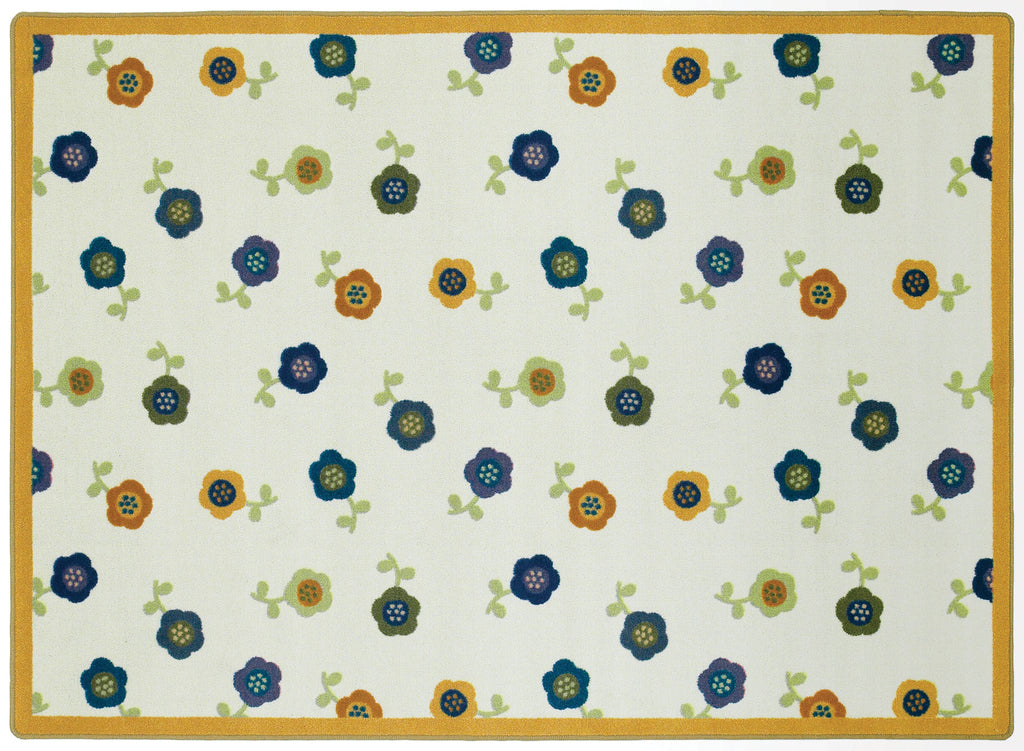 "Awesome Blossom© Classroom Rug, 5'4"" x 7'8"" Rectangle Bold"