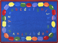 "Baby Beads© Classroom Rug, 5'4"" x 7'8"" Rectangle"