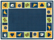 "Baby Blues© Classroom Rug, 5'4""  Round Bold"