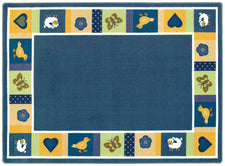 "Baby Blues© Classroom Rug, 5'4"" x 7'8"" Rectangle Bold"