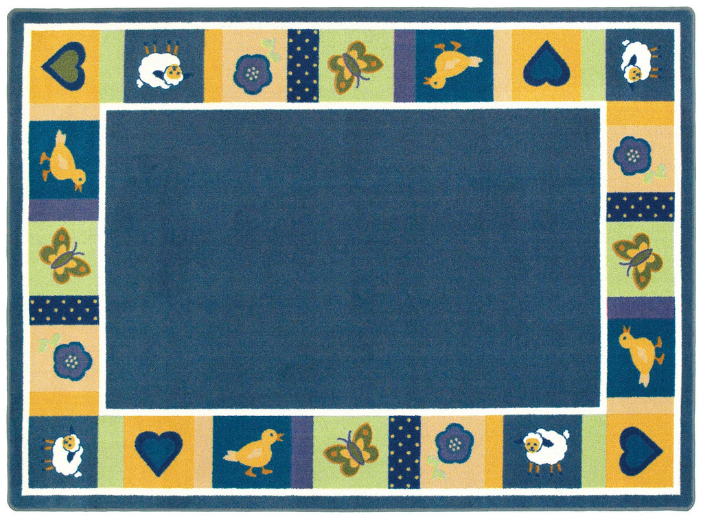 "Baby Blues© Classroom Rug, 7'8"" x 10'9"" Rectangle Bold"