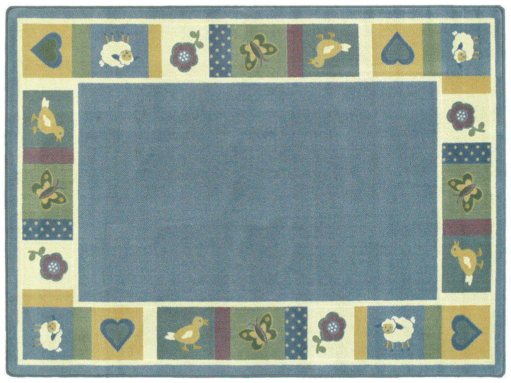 "Baby Blues© Classroom Rug, 5'4"" x 7'8""  Oval Soft"