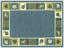 "Baby Blues© Classroom Rug, 3'10"" x 5'4""  Oval Soft"
