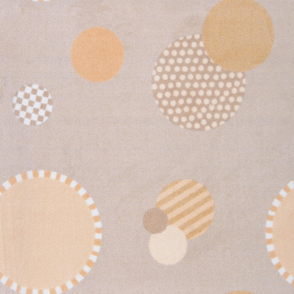 "Baby Dots© Classroom Rug, 3'10"" x 5'4"" Rectangle Beige"