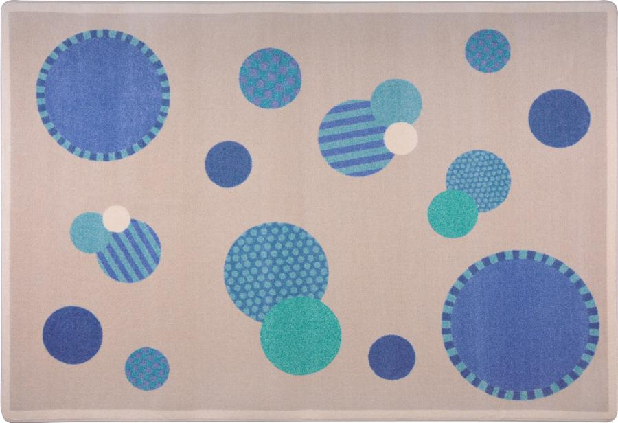 "Baby Dots© Classroom Rug, 7'8"" x 10'9"" Rectangle Blue"