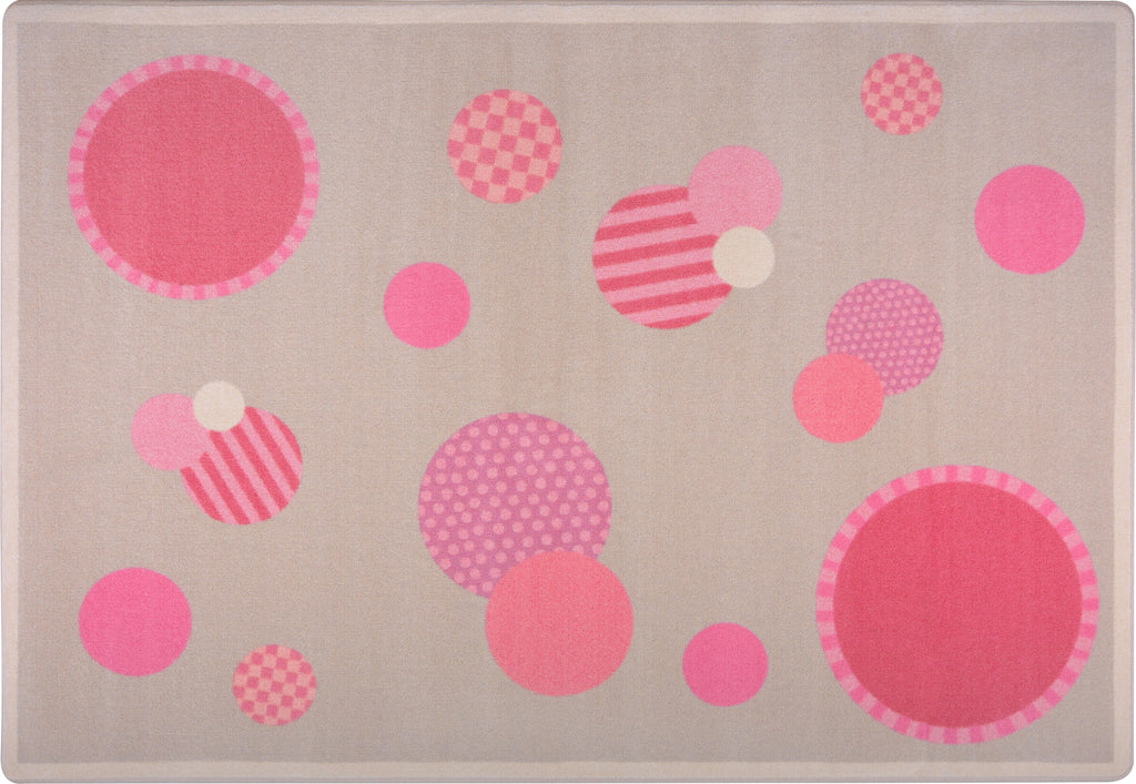 "Baby Dots© Classroom Rug, 3'10"" x 5'4"" Rectangle Pink"