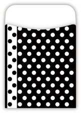 PEEL & STICK! Black & White Dot Pockets