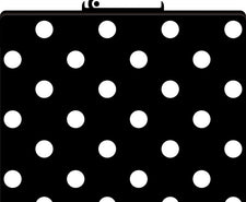 Black & White Dot File Folders