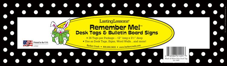 Black & White Dot Desk Tag
