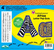 Africa Letter Pop-Outs