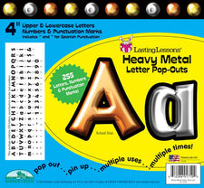 Heavy Metal Letter Pop-Outs