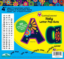 Italy Letter Pop-Outs